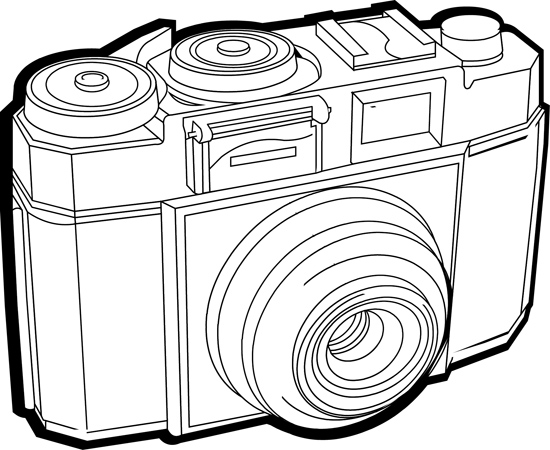 Objects : zeiss-ikon-cameraB-outline : Classroom Clipart