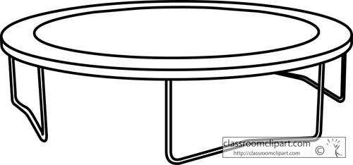 Outdoors : trampoline_outline : Classroom Clipart