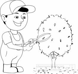 garden clipart gardener caretaker outline transparent medium