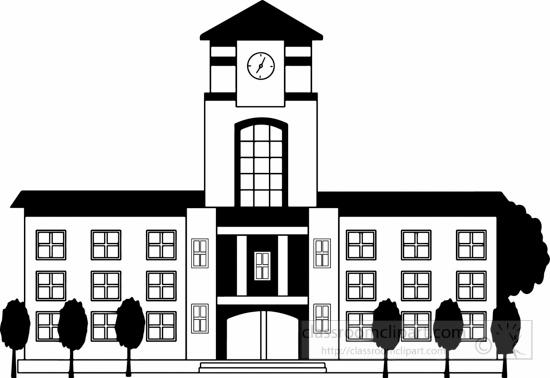 School : black-white-school-or-college-building-big