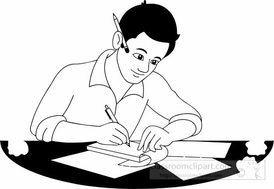 School : black-white-writer-clipart : Classroom Clipart
