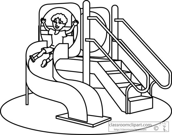 School : spiral_playground_slide_08_outline : Classroom