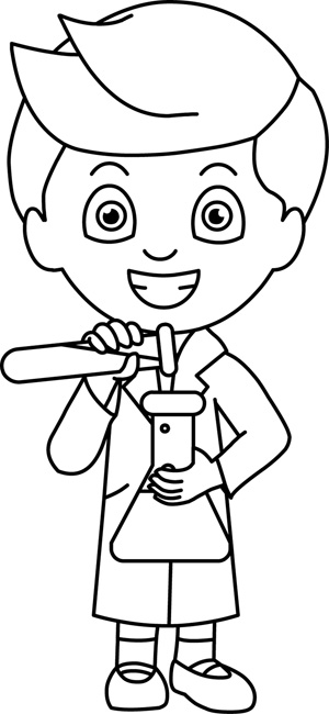 Science : science_08_outline : Classroom Clipart