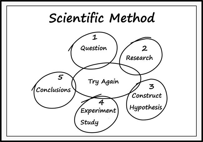 Science : scientific_method_on_chalkboard_outline_22