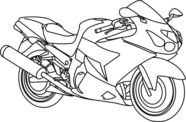 Transportation Clipart- motorcycle_outline_1129