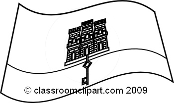 World Flags : Gibraltar_flag_BW : Classroom Clipart