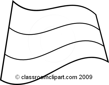 World Flags : Russia_flag_BW : Classroom Clipart