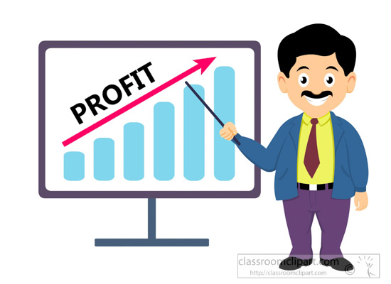 business clipart - man-showing-profit-business-clipart-6227