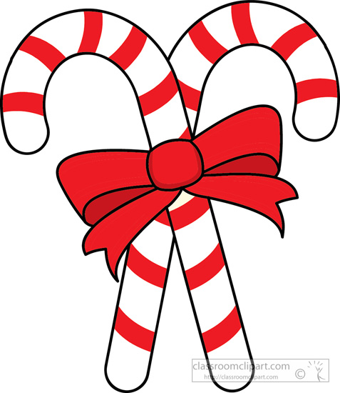 christmas clipart clipart- two-candy-canes-red-ribbon-clipart