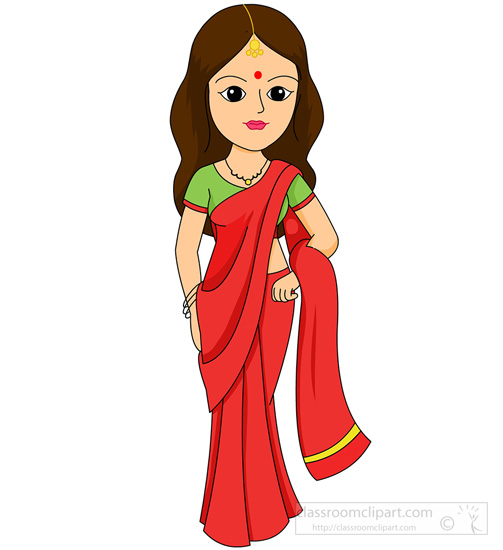culture clipart - indian-woman-in-saree-traditional