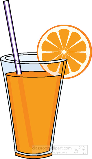 orange juice clip art cliparts
