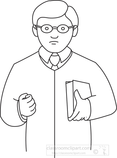 Legal : lawyer-233-outline : Classroom Clipart