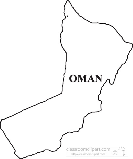 Country Maps : oman-clipart-outline-map-clipart