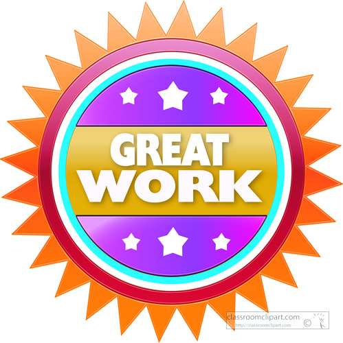 motivational clipart - great-work-circle-3