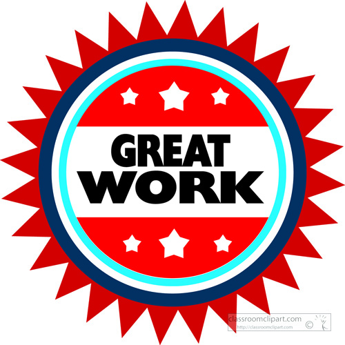 motivational clipart- great-work-red-circle