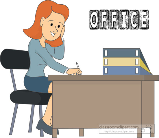 office clipart - office-worker-sitting-desk-clipart-215