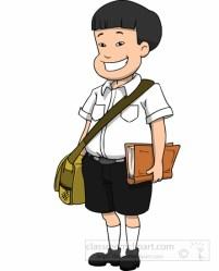 student clipart clip male asian boy teacher smiling sachel cliparts graphics illustrations presentation uniform students african background kid transparent library