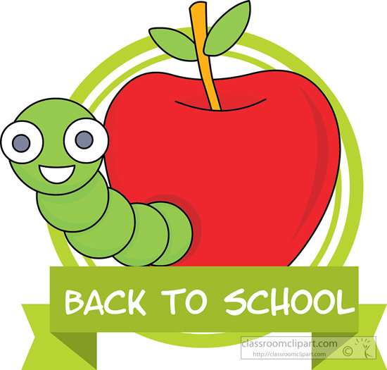 school clipart - -school-worm-apple