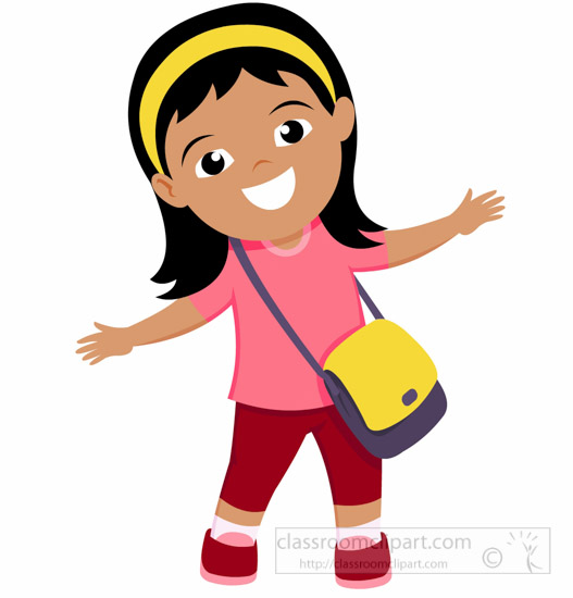 school clipart - smiling-cute-girl-with-bag-pack-school-clipart