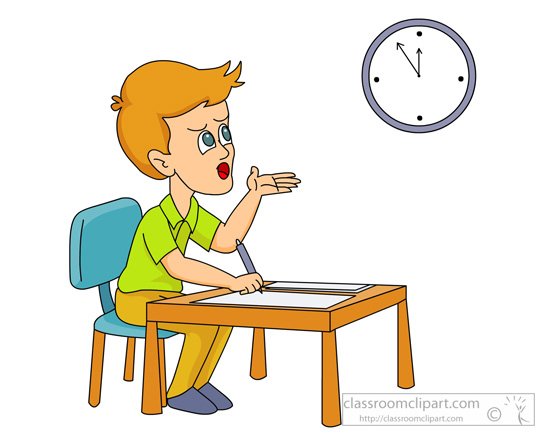 Student-looking-at-clock-during-final