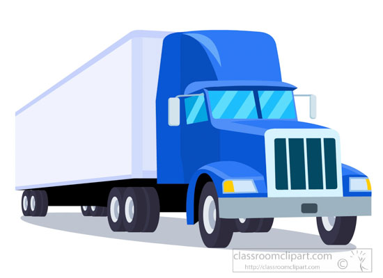 truck clipart - truck-with-long-trailer-blue-cab-clipart-3218