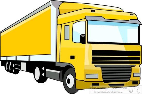 truck clipart- yellow-semi-trailer-truck-clipart-090855