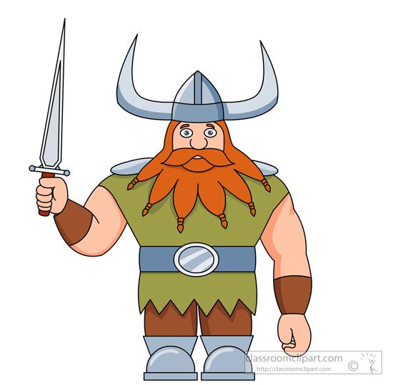 vikings clipart- viking-character-holding-sword-clipart