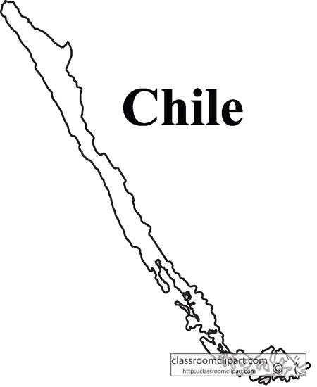 Chile : chile_outline_map : Classroom Clipart