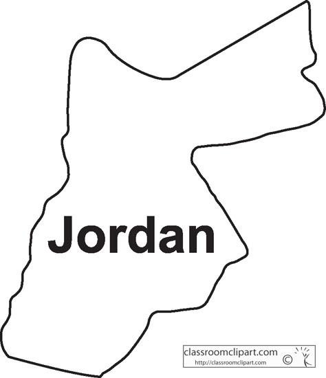 Jordan : Jordan_outline_map_8 : Classroom Clipart
