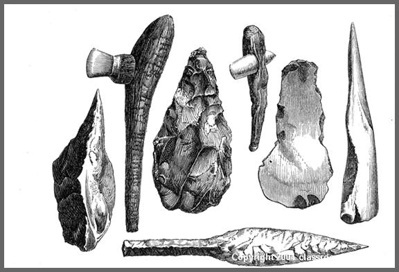 Stone Age : stone_toolsw : Classroom Clipart