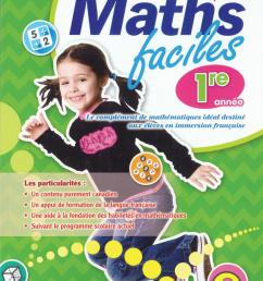 Maths faciles for French Immersion - Grade 1   Classroom Essentials  Scholastic Canada [ 1200 x 881 Pixel ]