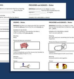 Adages And Proverbs Worksheet   Printable Worksheets and Activities for  Teachers [ 770 x 1027 Pixel ]