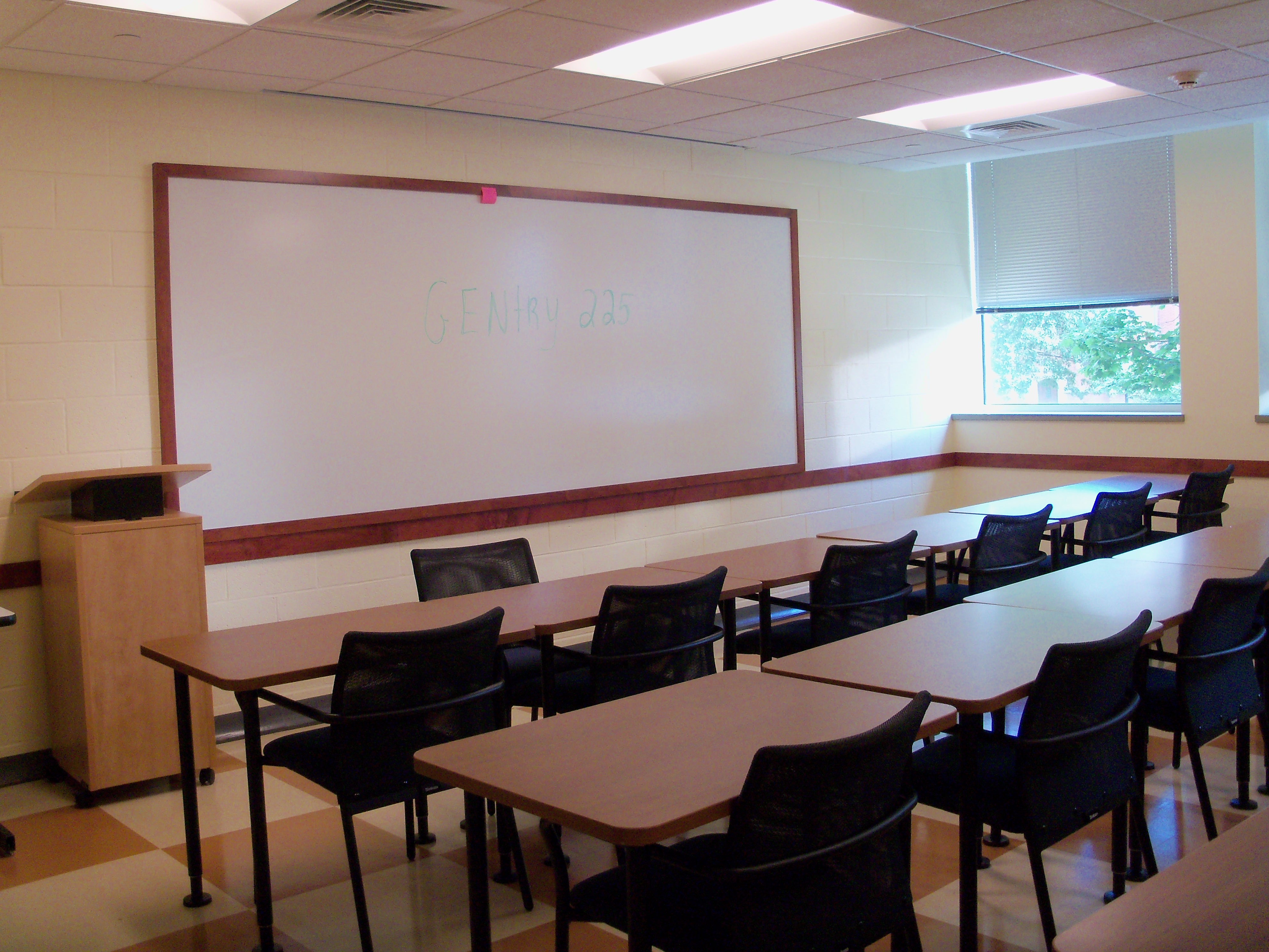 Gentry 225  UConn Classrooms Storrs campus