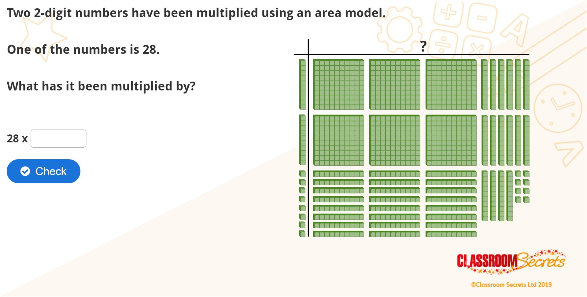 Year 5 Multiply 2 Digits 1 Area Model Iwb Multiplication