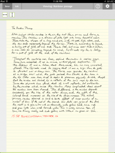 Hand written note using the Note Taker HD iPad app
