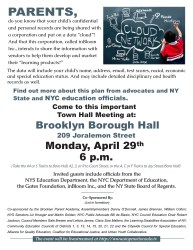 hall town privacy meeting student parents april flyer come inbloom class please mtg nyc important information common core education borough