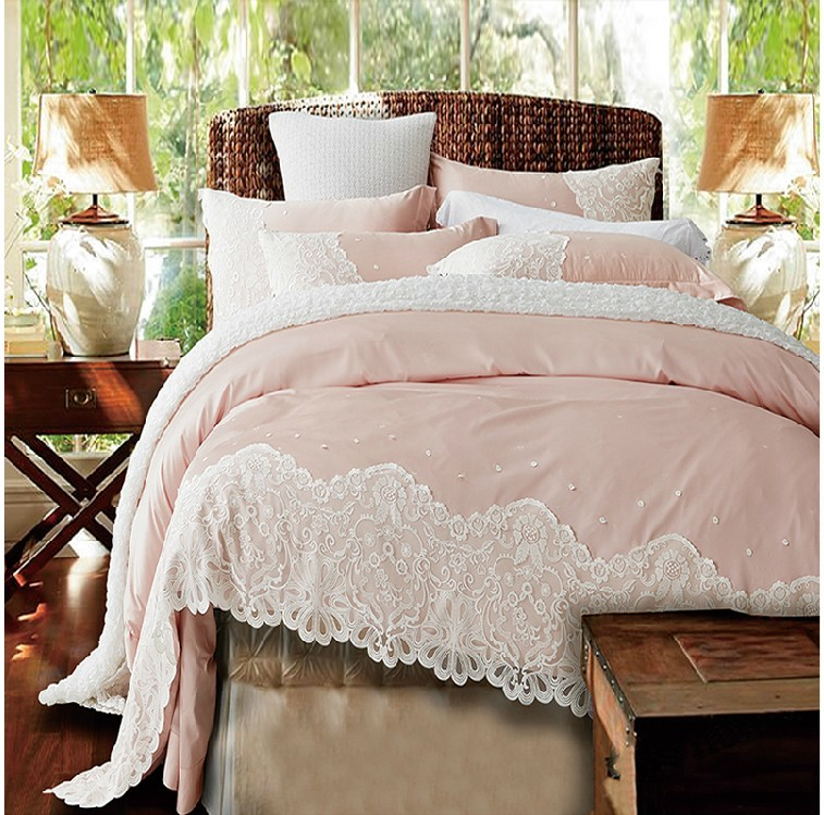 kitchen runner rugs dinettes paris pink lace egyptian cotton duvet cover set