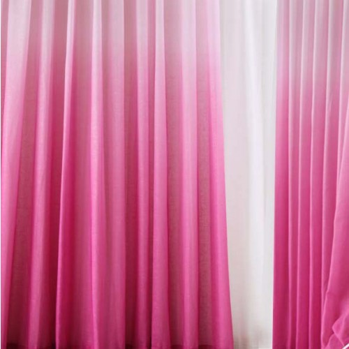 kitchen runner old fashioned faucets ombre gradient sheer curtain