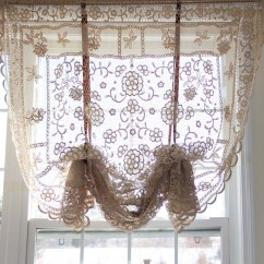 French Lace Kitchen Curtains Distressed Island Butcher Block Curtain