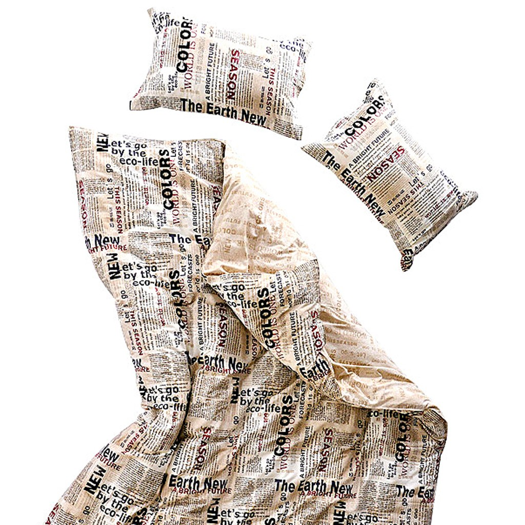 Newspaper Duvet Cover Set