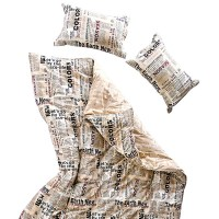 Newspaper Duvet Cover Set