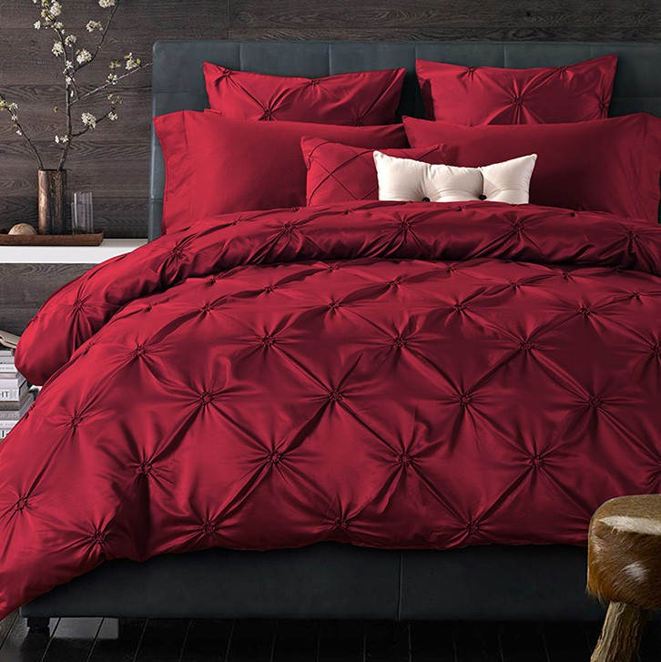 Pinch Pleat bedding
