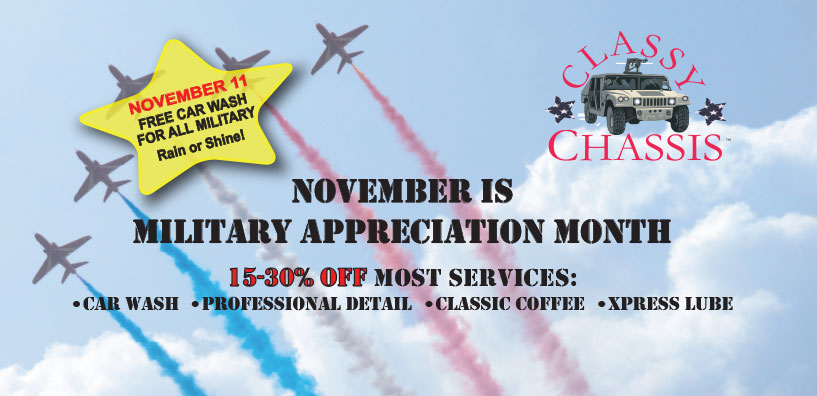 Military Appreciation discounts