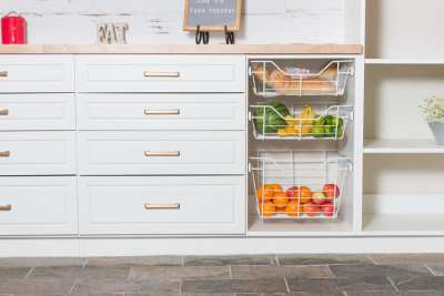 Wire Basket Drawer for Pantry