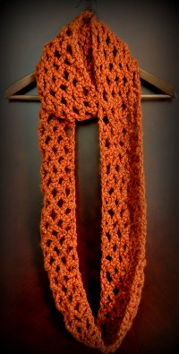 Free Pattern: Diamond Lattice Chain Crochet Infinity Scarf ...