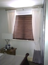 Blinds, Roman blinds, curtains, cushions