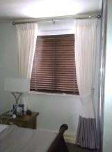 Blinds, Roman blinds, curtains, cushions