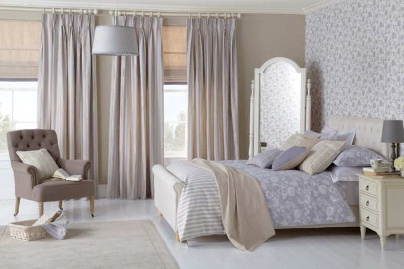curtains, bedding, cushions