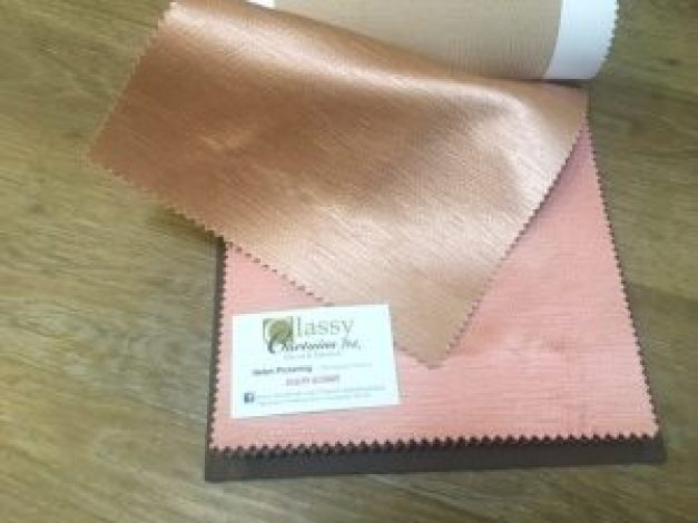 "alt=""Ashley Wilde Textures Glint Rose and Baby Pink Fabric"""
