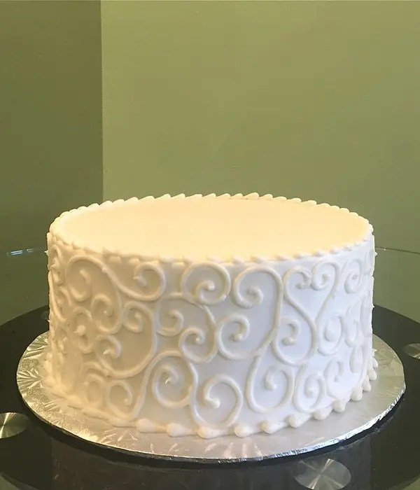 Scroll Layer Cake  Classy Girl Cupcakes